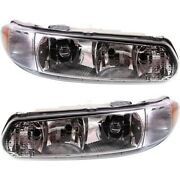 Headlight Set For 2010-2012 Kia Forte Koup Left And Right With Bulb 2pc