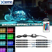 8x Rgb Led Motorcycle Ground Effect Neon Glow Light Strips For Harley Davidson