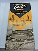 1965 San Francisco Giants Baseball Press Radio Television Guide And Schedule