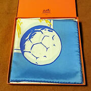 Hermes Scarf Soccer Pattern Carre 90 Free Shipping No.3006