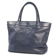 Sale Used Decacoco Womenand039s Tote Bag Navy No.6203