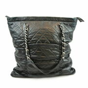 Chain Tote Black Women's Shoulder Bag Previously Owned No.6231