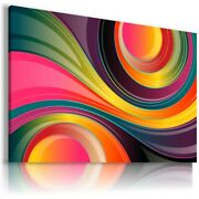 Colorful Spiral Circles Canvas Wall Art Picture Ab616 Mataga Unframed-rolled
