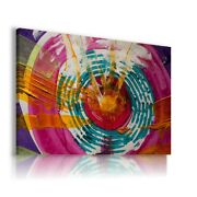 Painting Circles Therapy Print Canvas Wall Art Ab837 Mataga Unframed-rolled
