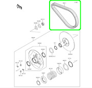 New Oem Kawasaki Drive Belt 59011-0019 For Some Brute Force 750 And Teryx 750