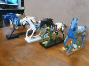 Four 4 Beautiful Horses From The Trail Of Painted Ponies Collection