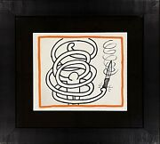 Keith Haring Lithograph Against All Odds 1990 Numbered Estate Coa