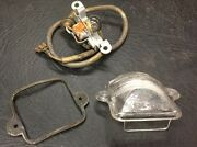 Aircooled Type 1 License Plate Light Lens And Bulb Holder 67-72