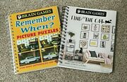 New - Lot Of 2 - Brain Games - Find The Cat And Picture Puzzles Remember When