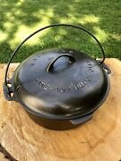 Vintage Griswold 9 Cast Iron Tite Top Dutch Oven And 207 Trivet Very Nice