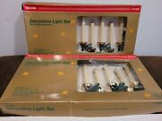Vintage Sears 10 Christmas Tree Candle Lights Clip Ons 2 Sets New Old Stock