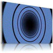 Spiral Circles Design Abstract Blue Canvas Wall Art Picture Ab720 Unframed