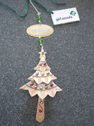 New Girl Scout Ornament Tree Metal. Brass Copper Beads Christmas Gift Nip