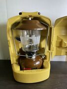 Vintage Coleman Lantern Model 275 Double Mantle Dated 11/76 W/ Funnel And Case