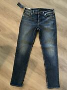 Nwt - Silver Avery Straight - Curvy High Rise Women's Jeans - 32 X 31 T820
