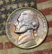1940-d Jefferson Nickel Nice Toned Collector Coin Free Shipping