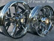Harley Chrome Enforcer Front 21 Rear 18 Wheel 09-21 Street Glide Outright Sale