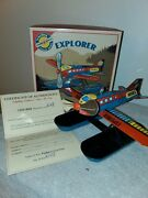 Mint Schylling Float Plane Wind Up Collector Tin Toy N114ex Explorer, New In Box