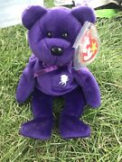 Ty Beanie Baby Rare 1997 Princess Diana Bear With Rare Errors In Mint Condition