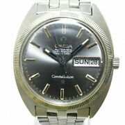 Omega Constellation Wristwatch Ss Plastic Windshield Antique Oh No.5487