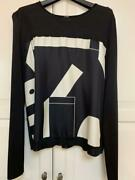 Hermes Silk Scarf Knit Top Sewn From Japan No.7043