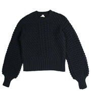 Hermes Sweater Cashmere Wool Black Navy Tops Free Shipping No.5456