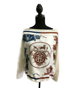 Hermes Scarf Long Sleeve Knit Saw Women 's Previously Owned No.7361