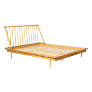 Platform Bed Queen Size Tapered Legs 500 Lb. Weight Capacity Solid Wood