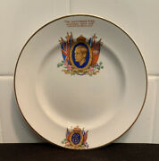 Rare Antique Vintage Abdication Plate King Edward Viii 1936 By Crownford England