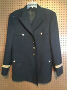 Us Army Coat Asu Signal Officer 42 S Jacket Dress Blue W/ Buttons Euc 24