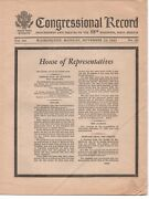 1963 Mourning Edition Of The Congressional Record For John F Kennedy