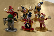 Spoontiques Clown Lot Of Six All New Including One Pewter Clown