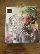 Vintage Mikasa Flores 13 In Fruit Candy Nut Formal Crystal Dish Platter New