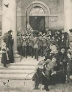Antique Orphan Boys Soldiers Royal Military Asylum Chelsea Marching Band Print