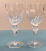 Pair Of Vintage Waterford Crystal Curraghmore Water Goblet Stems 7 1/2 Old Mark