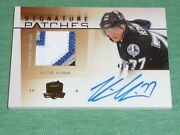 2009-10 The Cup Victor Hedman Auto 4clr Patch Rc 42/75 Rookie Signature Patches
