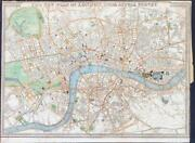 1836 Antique Map New Plan Of London From Actual Survey By J Roger