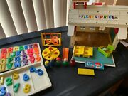 Vintage Fisher Price Little People School 923 Complete With Eraser/chalk