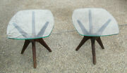 Pair 1960and039s Jacks End Tables Designed By Adrian Pearsall For Craft Associates