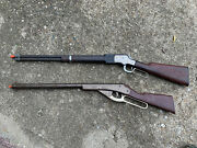 Mattel Official Winchester Saddle Gun Plastic Toy Roll Cap Rifle And Daisy 960 Pop