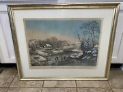 Original N. Currier And Ives American Winter Scenes Morning Large New And Old Best