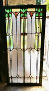 Antique Stained Glass Panel -
