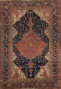 Antique Pre-1900 Vegetable Dye Oriental Sarouk Farahan Hand-knotted Area Rug 4x6