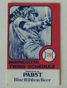 1978 Minnesota Twins Schedule Pabst Blue Ribbon Beer - Flash Sale