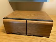 Vintage Faux Wood Cd Storage Cabinet 56 Cd Capacity. Smart Cabinets Brand