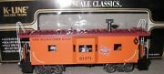 ✅k-line By Lionel Milwaukee Road Smoking Bay Window Caboose For Diesel Engine