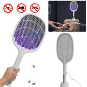 Electric Usb Rechargeable Racket Fly Swatter Mosquito Insect Killer Bug Zapper