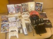Nintendo Wii Sports White Home Console Bundle 8+ Video Games Remotes Cases.andnbsp