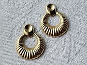 Earring Jackets 14kt Unmarked Yellow Gold Door Knocker Style Collectible