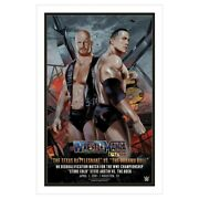 New Wwe Legendary Moments Rock Vs Stone Cold Poster-bartlett Only 250 Printed